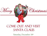 Come See Santa Claus & Military Dog Demo Dec 14th