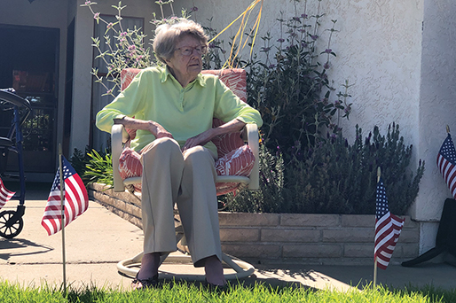 104-year-old Marine gets birthday drive-by